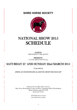 National Show Schedule - The Shire Horse Society