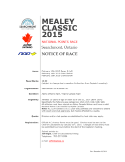 Mealey Classic 2015 Race Notice FINAL