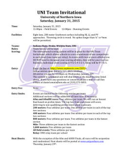 UNI Team Invitational - University of Northern Iowa Athletics