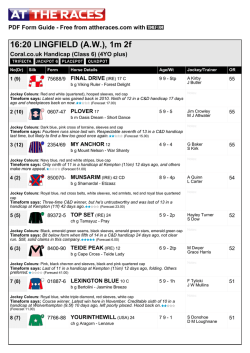 At The Races PDF FORM GUIDE