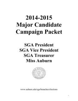 2014-2015 Major Candidate Campaign Packet