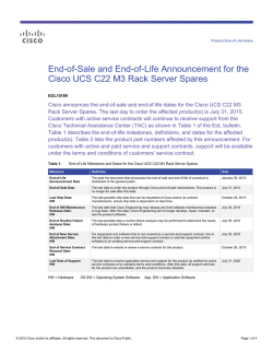 End-of-Sale and End-of-Life Announcement for the Cisco UCS C22