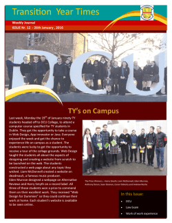Transition Year Times issue 12