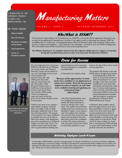 Newsletter Edition 3 - Southwest Virginia Alliance for Manufacturing