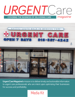 Media Kit - Urgent Care Magazine
