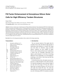 Fill Factor Enhancement of Amorphous Silicon Solar Cells for High