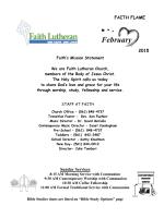 Faith Flame Newsletter - Faith Lutheran Church