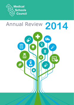 Annual Review 2014 - Medical Schools Council