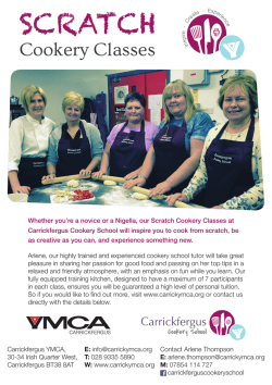 Scratch Cookery Classes