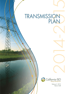 Draft 2014-2015 Transmission Plan