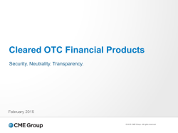 Cleared OTC Financial Products - Security. Neutrality
