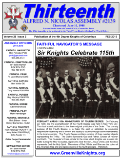 Download Newsletter - Knights of Columbus
