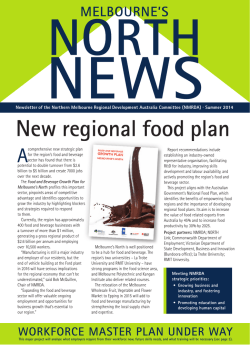 New regional food plan - Regional Development Victoria