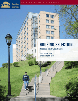 HOUSING SELECTION - Panther Central