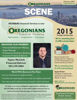 Newsletter - Oregonians Credit Union
