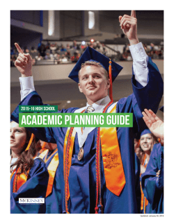 Academic Planning Guide - McKinney Independent School District