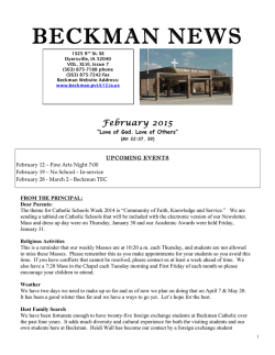 Newsletter - Beckman High School