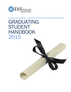 Download the complete Graduating Student Handbook (PDF)