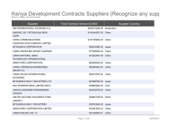 Kenya Development Contracts Suppliers