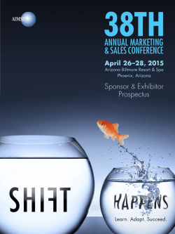 Exhibitor and Sponsor Prospectus