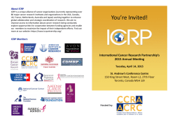View the 2015 ICRP Annual Meeting brochure