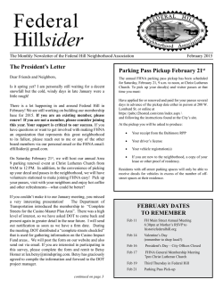 February 2015 Hillsider - Federal Hill Neighborhood Association