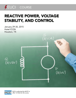 Reactive PoweR, voltage Stability, and contRol