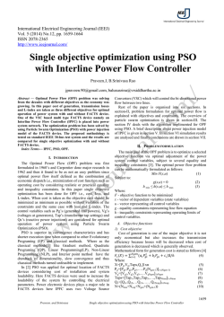 Single objective optimization using PSO with Interline Power Flow