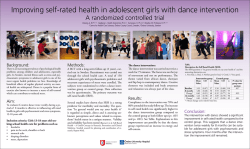 Improving self-rated health in adolescent girls with dance intervention
