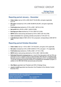 Year-End Report 2014