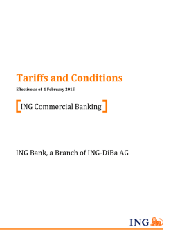 Tariffs and Conditions