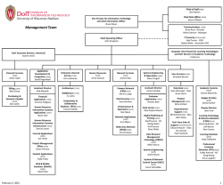 DoIT Organization Chart - University of Wisconsin–Madison