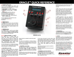 ORACLE™ QUICK REFERENCE