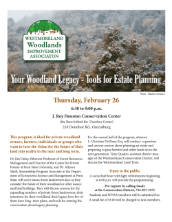 Your Woodland Legacy - Tools for Estate Planning