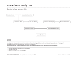 Aaron Ybarra: Family Tree