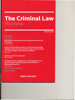 The Criminal Law Review