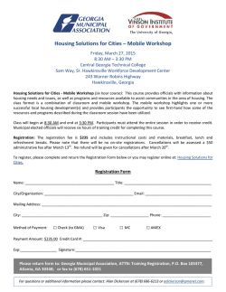 Housing Solutions for Cities – Mobile Workshop MC