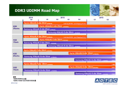 DDR3 UDIMM Road Map