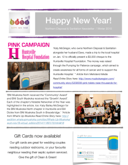 winter 2015 newsletter - Northern Disposal and Sanitation