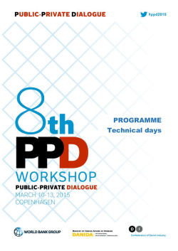 PROGRAMME Technical days - Public Private Dialogue