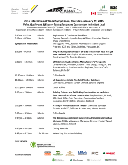 2015 International Wood Symposium Program