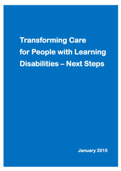 Transforming Care for People with Learning