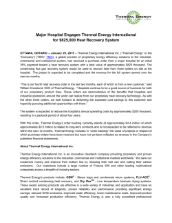 Hospital Engages Thermal Energy for $825K Heat Recovery System