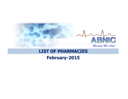 Download List of Pharmacies - Al Buhaira National Insurance