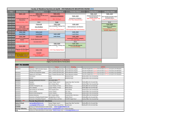 Timetable (pdf, 105kb) - University of Sheffield