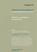 Guidance on the provision of obstetric anaesthesia services 2015