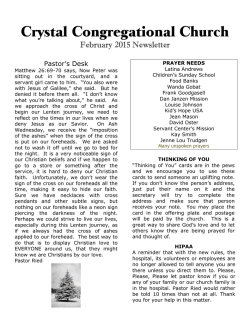 February 2015 Newsletter - Crystal Congregational Church