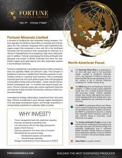 Fact Sheet - Fortune Minerals Limited