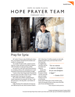 HOPE PRAYER TEAM