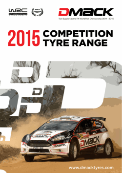 COMPETITION TYRE RANGE
